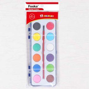 Aguarela Foska 12 Cores C/ Pincel Gc1007