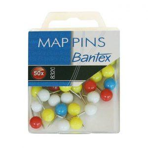 Alfinete De Mapa Bantex 1X50 Ref. 8320