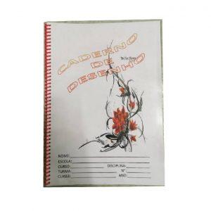 Caderno De Desenho C/ 25 Folhas C/ Aspiral