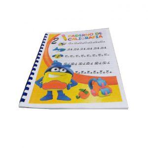 Caderno de Caligrafia A4 C/ Argolas