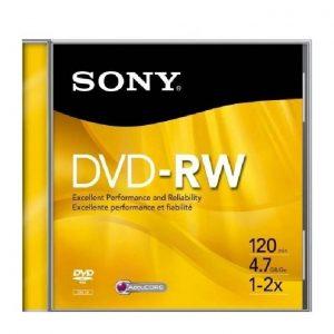 Dvd-Rw Sony 4.7 Gb 120 Min 2X