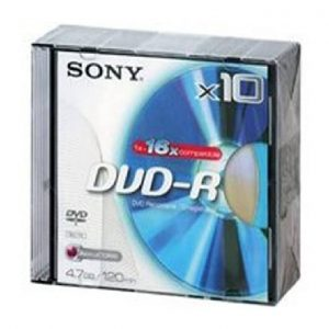Dvd+R Sony 4.7Gb/120Min 16X