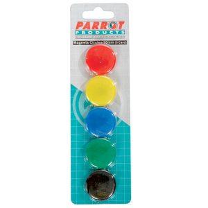 Magnetico Redondo Parrot P/ Quadro 30Mm 1X5