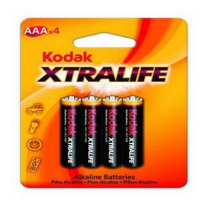 Pilha Alkalina Kodak X-Tralife AAA 1X4 Ref. 22031