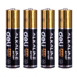 Pilha Alkalina Deli Black AA 1X4